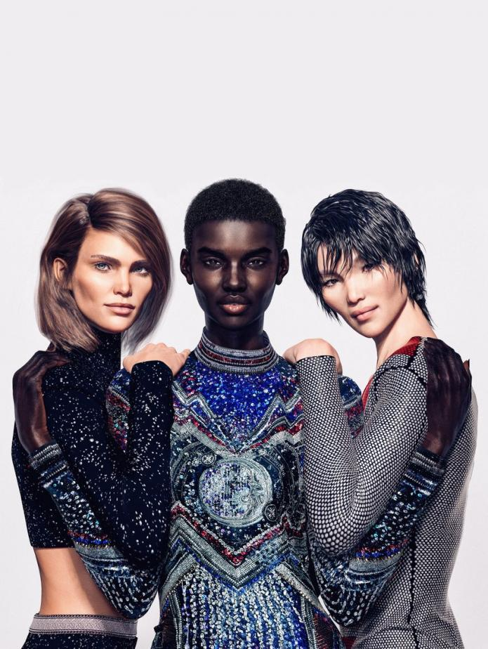 Balmain's digital supermodel army